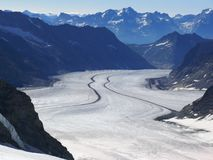 Jungfrau, Switzerland. Aletsch Glacier stock photos