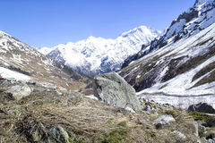 Glacier Seven and mount Cheget Stock Photos