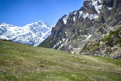 Glacier Seven and mount Cheget Stock Image