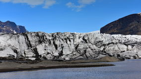 Glacier at Skaftafell in Iceland Royalty Free Stock Images