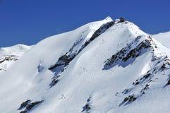 Glacier skiing Royalty Free Stock Photo