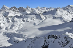Glacier skiing in switzerland Royalty Free Stock Images