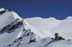 Glacier skiing in zermatt Royalty Free Stock Image