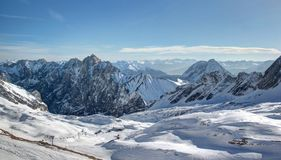 Glacier skiing: Zugspitze mountain – Top of Germ Stock Photography
