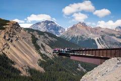 Glacier Skywalk in Jasper National Park, Alberta, Canada stock image