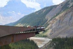 Glacier Skywalk in Jasper National Park Stock Photo