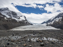 Glacier and snow capped mountain Stock Image