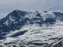 Glacier and snow on the Rocky Mountains Royalty Free Stock Image