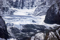 Glacier, Sonamarg, Kashmir, India. Glaciers are plentiful in the mountains around Sonamarg Royalty Free Stock Images
