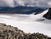 Glacier sous Galdhopiggen Mt., Norvège images libres de droits