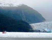 Glacier in South America. A huge glacier in Southern South America royalty free stock photo