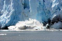 Glacier spectaculaire de vêlage Photos libres de droits
