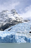 Glacier Spegazzini and a mountain top Royalty Free Stock Photography