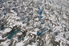 Glacier at St Elias Range Royalty Free Stock Photography