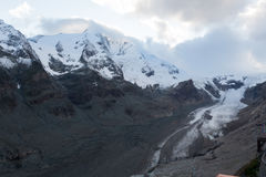 Glacier in summer in Austrian Alps Royalty Free Stock Photography