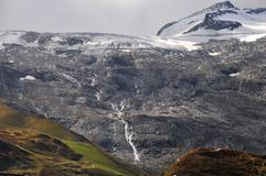 Glacier in summer - the end Royalty Free Stock Images