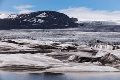 Glacier in a sunny day, Iceland Royalty Free Stock Images