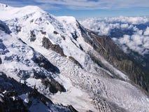Glacier sur Mont Blanc Photographie stock libre de droits