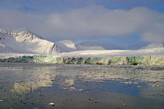 Glacier on Svalbard royalty free stock photography
