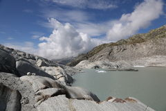 Glacier in Switzerland Royalty Free Stock Photography