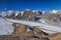Glacier in Tajikistan. Magnificent glacier in Pamir mountains in Tajikistan Stock Image