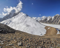 Glacier in Tajikistan Stock Photo