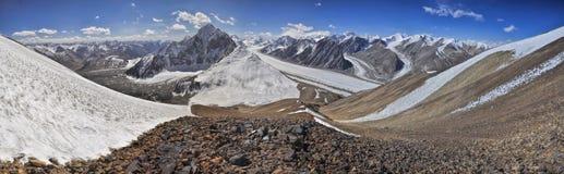 Glacier in Tajikistan Royalty Free Stock Images