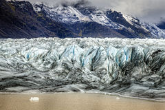 Glacier terminus. In the south of Iceland Stock Image