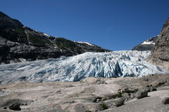 Glacier tongue Stock Photography