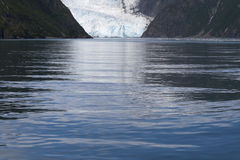 Glacier tongue and sea Royalty Free Stock Photos