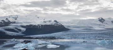 Glacier tonque and mountains Royalty Free Stock Image