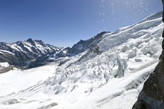 Glacier on the top of Jungfrau Royalty Free Stock Images