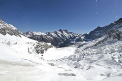 Glacier on the top of Jungfrau Royalty Free Stock Photos