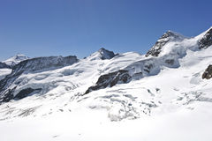 Glacier on the top of Jungfrau Stock Photos