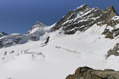 Glacier on the top of Jungfrau Stock Photography