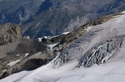 Glacier on top of the Titlis Stock Photography