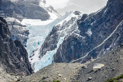 Glacier, Torres del Paine National Park, Chile. One of the several glaciers in the Torres del Paine National Park, Patagonia, Chile royalty free stock image