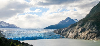 Glacier in Torres del Paine National Park in Patagonia, Chile Stock Photography