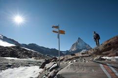 Glacier trail hike Royalty Free Stock Photo