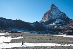 Glacier trail hike Stock Image