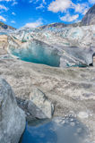 Glacier travel in Norway summer trip Royalty Free Stock Image