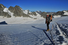 Glacier trekking Royalty Free Stock Photography
