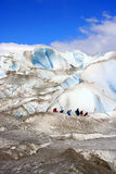 Glacier Trekking (distance) Royalty Free Stock Photos