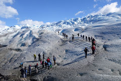 Glacier Trekking in Patagonia Stock Photo