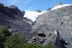 A glacier at valdez Stock Images