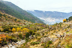 Glacier Valley at Manteigas, Beira, Portugal. Royalty Free Stock Images