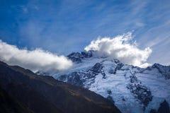 Glacier in Valley, Mount Cook, New Zealand. Glacier in Valley, Aoraki Mount Cook, New Zealand stock image