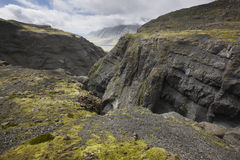 Glacier valley and mountains in Iceland Stock Images