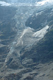 Glacier in valley nearby Grindelwald in Switzerland royalty free stock photography