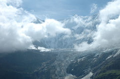 Glacier in valley nearby Grindelwald in Switzerland Royalty Free Stock Photos